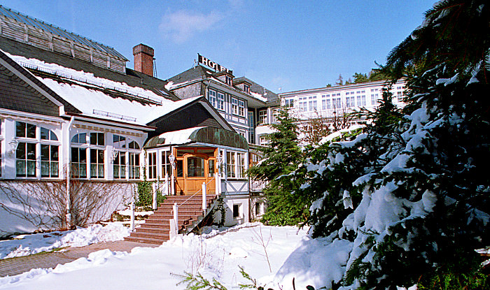 Hotel in winter